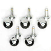 Interion® Stool Casters - Set of 5