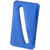 Paper Recycling Lid for Rubbermaid Recycling Container - Blue - Pkg Qty 4