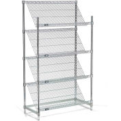 "Slant Wire Shelving - 4 Shelves - 36""W x 24""D x63""H"