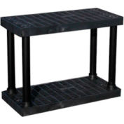 "Structural Plastic Vented Shelving, 36""W x 16""D x 27""H , Black"