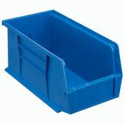 Quantum Plastic Stacking Bin QUS230 5-1/2 x 10-7/8 x 5 Blue - Pkg Qty 12