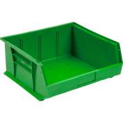 Quantum Plastic Stackable Bin QUS245 16-1/2 x 10-7/8 x 5 Green - Pkg Qty 6