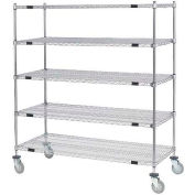 Nexel® Open Sided Wire Stock Picker Truck 5 Wire Shelves 800 Lb. Cap.