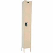 Hallowell UY1888-1A- Maintenance-Free Quiet Locker Single Tier 18x18x72 1 Door Assembled Parchment