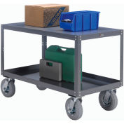 Portable Steel Table 2 Shelves 60x30 1200 Lb. Capacity Unassembled