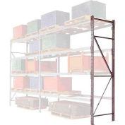 """Pallet Rack Upright Frame - 4"""" Channel 36""""D x 120""""H"""
