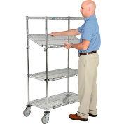 Nexel® E-Z Adjust Wire Shelf Truck 36x24x69 1200 Pound Capacity