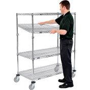 Nexel® E-Z Adjust Wire Shelf Truck 48x24x69 1200 Pound Capacity