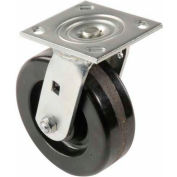 "Heavy Duty Swivel Plate Caster 8"" Plastic Wheel 800 Lb. Capacity"