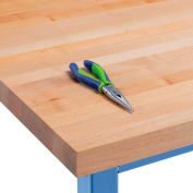 """Global Industrial™ Maple Butcher Block Square Edge Workbench Top, 72""""W x 30""""D x 1-3/4""""H"""