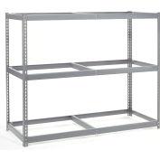"Wide Span Rack 72""W x 24""D x 60""H With 3 Shelves No Deck 900 Lb Capacity Per Level"