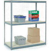 "Wide Span Rack 72""W x 24""D x 84""H With 3 Shelves Wood Deck 900 Lb Capacity Per Level"