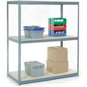 Global Industrial™ Wide Span Rack 72Wx24Dx96H, 3 Shelves Wood Deck 900 Lb Cap. Per Level, Gray