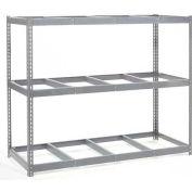 Global Industrial™ Wide Span Rack 96Wx24Dx84H, 3 Shelves No Deck 800 Lb Cap. Per Level, Gray
