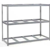 "Wide Span Rack 96""W x 48""D x 96""H With 3 Shelves No Deck 800 Lb Capacity Per Level"