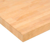 """Global Industrial™ 72""""W x 36""""D x 2-1/4""""H Maple Butcher Block Square Edge Workbench Top"""