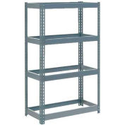 "Global Industrial™ Extra Heavy Duty Shelving 36""W x 18""D x 60""H With 4 Shelves, No Deck, Gray"