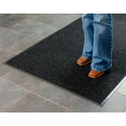 Deep Cleaning Ribbed 3 Foot Wide Cut Length Entrance Mat Charcoal