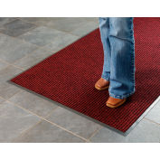 Deep Cleaning Ribbed 4 Foot Wide Roll Entrance Mat Red