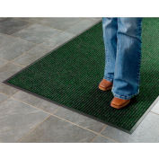 Deep Cleaning Ribbed 6 Foot Wide Roll Entrance Mat Green