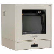Global Industrial™ Counter Top CRT Security Computer Cabinet, Gray