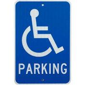 "Aluminum Sign - Handicap Parking Logo - .080 "" Thick, TM94J"