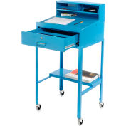 "23""W x 20""D Open Leg Mobile Shop Desk - Blue"