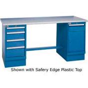 60 x 30 Maple Safety Edge 4 Drawer & Cabinet Workbench
