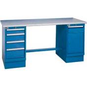 60 x 30 Plastic Square Edge 4 Drawer & Cabinet Workbench
