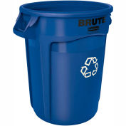 Rubbermaid® Brute 2620-73 Round Recycling Container, 20 Gallon - Blue