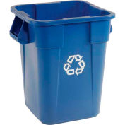 Rubbermaid® Brute Square Recycling Container, 40 Gallon - Blue