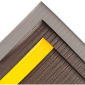 "NoTrax® Airug® Anti-Fatigue Mat 5/8"" Thick 4' x Up to 30' Black /Yellow Border"