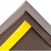 "NoTrax® Diamond Sof-Tred™ Anti-Fatigue Mat 1/2"" Thick 3' x 60' Black/Yellow Border"