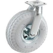 "Swivel Plate Caster 10"" Full Pneumatic Wheel 330 Lb. Capacity"