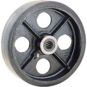 "6"" x 2"" Mold-On Rubber Wheel - Axle Size 1/2"""