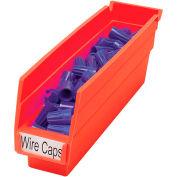 "Akro-Mils Plastic Shelf Bin Nestable 30110 - 2-3/4""W x 11-5/8""D x 4""H Red - Pkg Qty 24"
