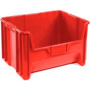 "Heavy Duty QGH700 Plastic Hopper Bin 19-7/8""W x 15-1/4""D x 12-7/16""H Red - Pkg Qty 3"