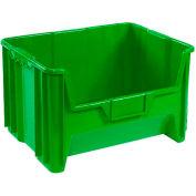 "Heavy Duty QGH700 Plastic Hopper Bin 19-7/8""W x 15-1/4""D x 12-7/16""H Green - Pkg Qty 3"
