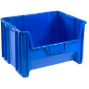 "Heavy Duty QGH700 Plastic Hopper Bin 19-7/8""W x 15-1/4""D x 12-7/16""H Blue - Pkg Qty 3"