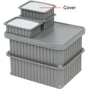 "Dandux Insert Cover 50B0112LI for Dividable Grid Stackable Box, 16""L x 11""W, Clear"
