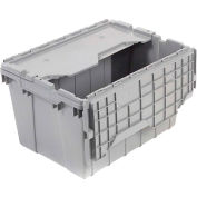 "Akro-Mils Attached Lid Container 39170GREY - 21-1/2""L x 15'W x 17""H - Pkg Qty 3"