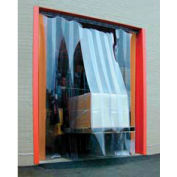 Standard Grade Smooth Clear Strip Door Curtain 7'W x 7'H