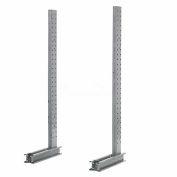 """Cantilever Rack simple face verticale (série 1000), 45"""" D x 10' H, 4400 Lbs capacité"""
