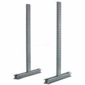 """Piétement luge Rack Double face verticale (série 1000), D 78"""" x 8' H, 9200 Lbs capacité"""