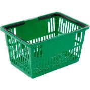 """Plastique, panier avec poignée en plastique, gros, 19-3/8"""" L X 13-1/4"""" W X 10 «H, vert, bon L®, qté par paquet : 12"""