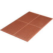 "WorkStep™ Grease Resistant Anti-Fatigue Drainage Mat, 1/2"" Thick, 3'x5', Red"