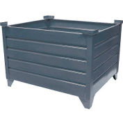 """Global Industrial™ Stackable Steel Container, 30""""Lx24""""Wx18""""H, Unpainted"""