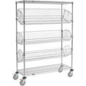 "Ajustable Mobile Wire Rack Bin - W 48"" x 18 « P x 69"" H"