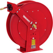 "Reelcraft 82100 OLP 1/2""x100' 300PSI Heavy Duty Dual Pedestal Spring Retractable Steel Air Hose Reel"