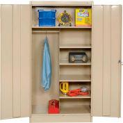 Tennsco Combination Metal Storage Cabinet 1472-SND - 36x18x72 Sand